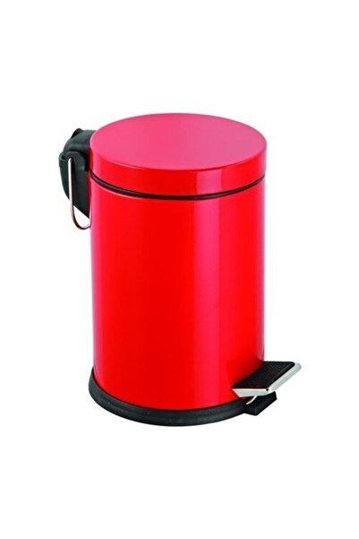 Maxiflow Pedallı Kırmızı Çöp Kovası 5 Lt