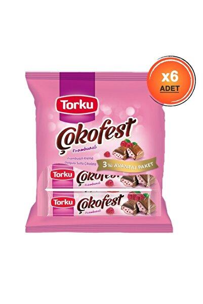 Torku Çokofest Frambuazlı Çoklu Paket 102 gr X6