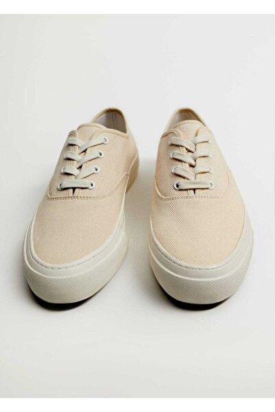 MANGO Man Bağcıklı Kanvas Spor Ayakkabı