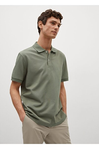 MANGO Man Erkek Teknik Pamuklu Pike Kumaşlı Polo Gömlek