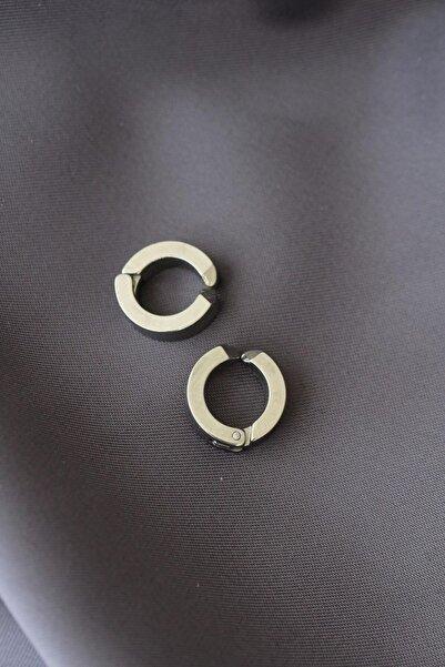 Moco Halka Model Sıkıştırmalı Çelik Küpe