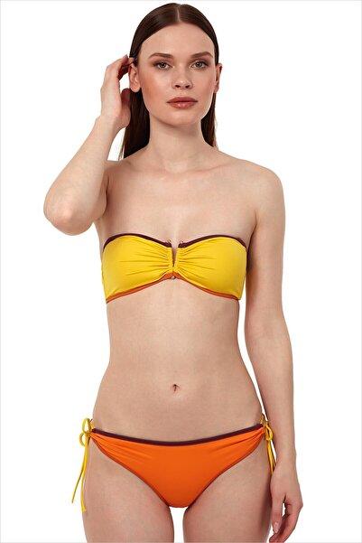 AYYILDIZ Kadın Oranj Straplez Bikini Takımı 1511