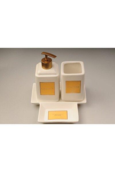 AROW Cardo Beyaz Porselen Banyo Seti