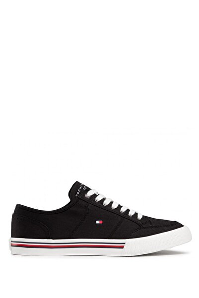 Tommy Hilfiger Siyah Erkek Core Corporate Textile Sneakers Fm0fm03390