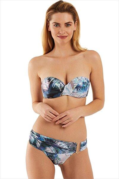 AYYILDIZ Kadın Metalik Straplez Bikini Takımı 1583