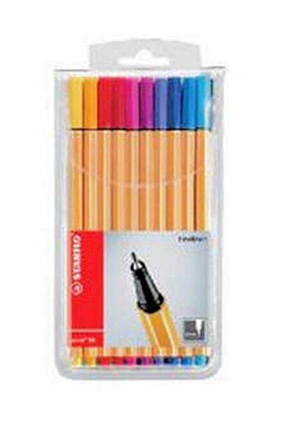 Stabilo Point 88 İnce Keçe Uçlu Kalem 10 Renk Askılı Paket