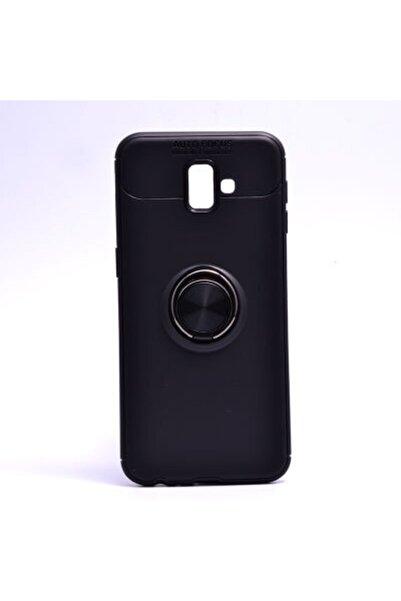 Samsung Galaxy J6 Plus Kılıf Yüzüklü Soft Silikon Kapak