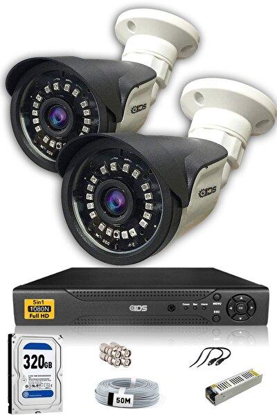 IDS 2 Kameralı Set - 5mp Sony Lensli Full Hd Gece Görüşlü Güvenlik Kamerası Sistemi - Cepten Izle