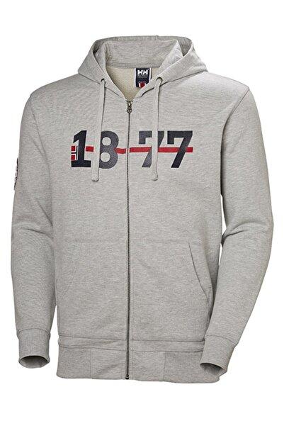Helly Hansen Erkek Gri Hh 1877 Fz Hoodıe Sweatshirt