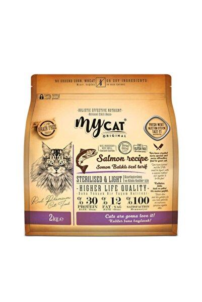 My Cat Mycat %70 Tahılsız Somon Balıklı Özel Tarif (2kg) Sterilised-kısırlaştırılmış Kedi Maması