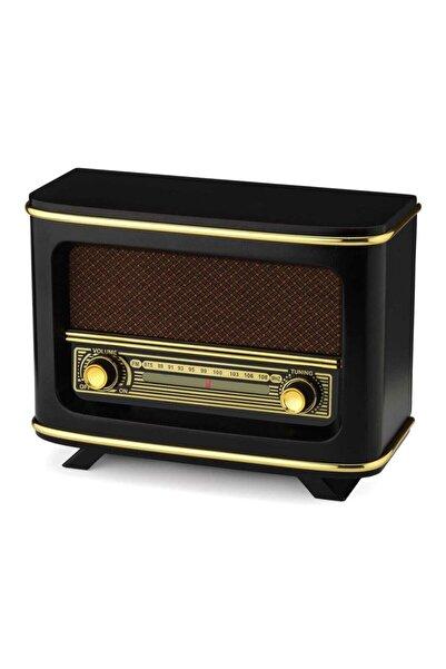 instatech Bluetoothlu Usb Aux Girişli Nostaljik Ahşap Radyo Istanbul Modeli + Adaptör