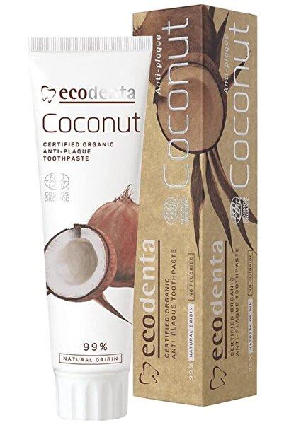 Ecodenta Coconut Florürsüz Floridsiz Oganik Vegan Diş Macunu