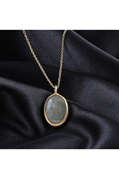 Silvertons %100 Doğal Akuamarin Taşlı Gümüş Kolye