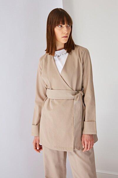 Trendyol Modest Taş Ceket Tesettür Ceket TCTSS21CE0414