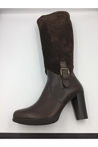 Scooter Kadın Kahverengi Topuklu Çizme