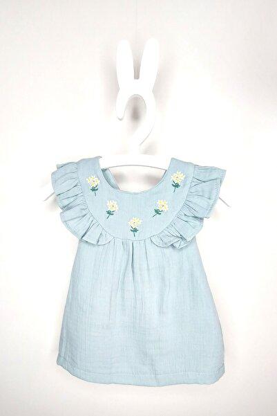 Miny Miny Kids Çapraz Askılı Çiçek Detaylı Elbise