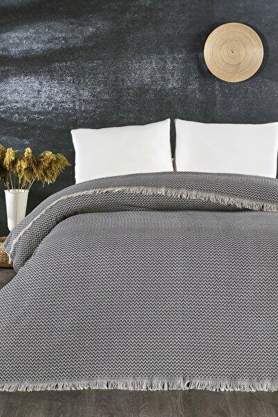 İpekçe Home Lacivert Pamuklu Pike Yatak Örtüsü