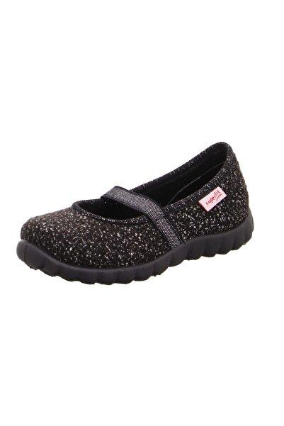 Superfit Kız Çocuk Siyah Ev Ayakkabısı