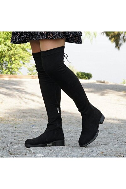 SELENA Siyah Uzun Streç Çizme