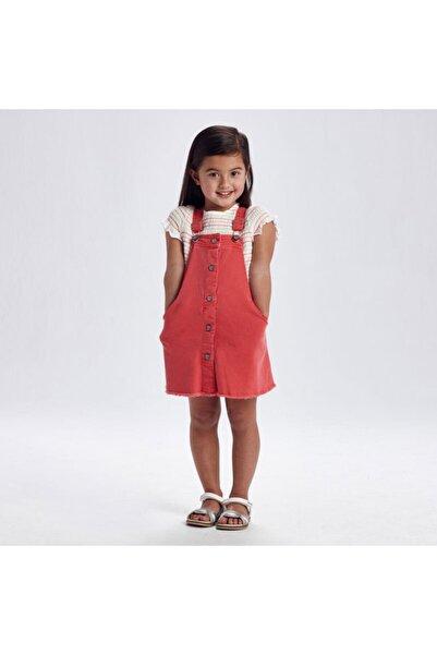 MAYORAL Kız Çocuk Kırmızı Gabardin Salopet