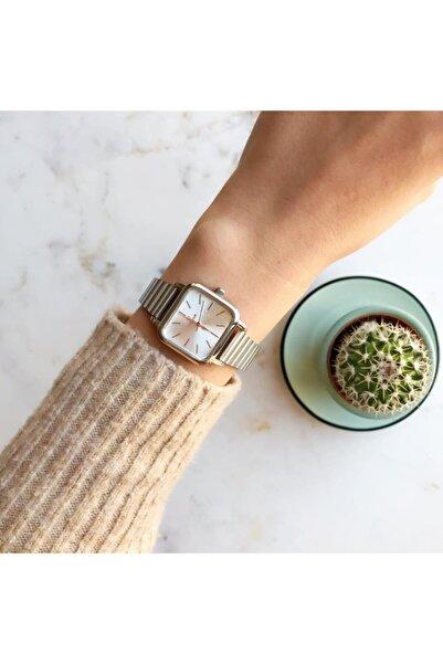OQQO Minimal Kare Gümüş Kadın Kol Saati