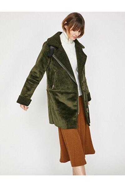 Koton Kadın Yeşil Cep Detaylı Kaban 9KAK06501OW
