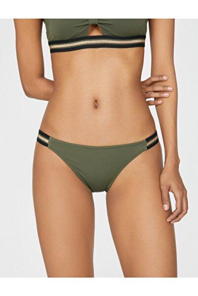 Koton Kadın Yeşil Desenli Bikini Altı
