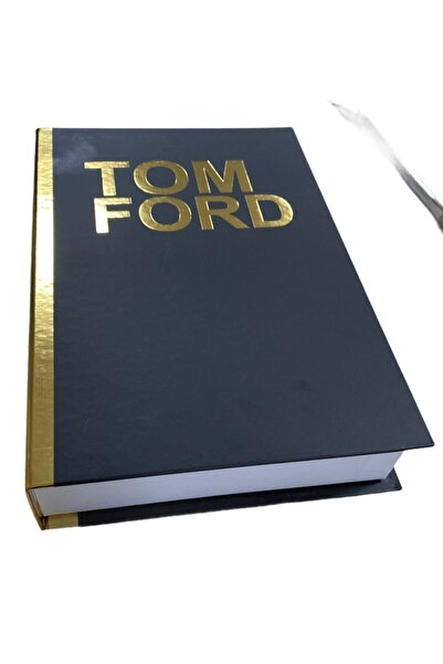 Happy Peyzaj Tom Ford Dekoratif Kitap Kutu Gold 27x18x4,5cm