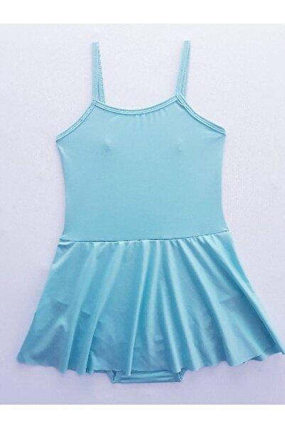 LULLY KİDS Kız Çocuk Mint Yeşil Ip Askılı Etekli Bale Jimnastik Çalışma Mayosu