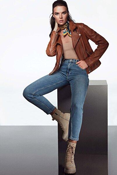 Derimod Kadın Kahverengi Deri Ceket
