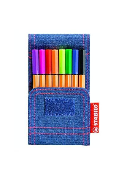 Stabilo Point 88 Mini Jeans 8'li Set Keçe Uçlu Kalem 668/8-06