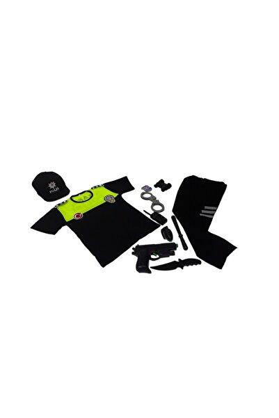 fabrikoloji Unisex Çocuk Renkli Trafik Polis Kostümü Kıyafet Üniforma 20y21s03f009