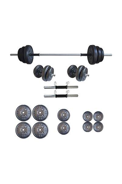 Dambılcım Platinum 55 kg Halter Seti 55 kg Dambıl Seti Ağırlık Seti Vücut Geliştirme Aleti