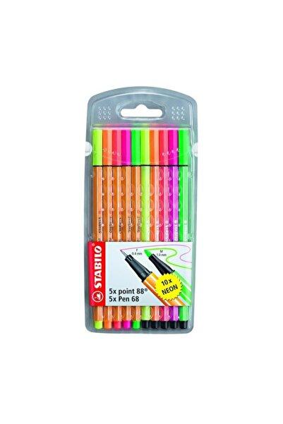 Stabilo Point 88 + Pen 68 Neon 10`lu Paket
