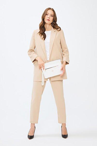 Deri Company Kadın Beyaz  Basic Clutch Çanta