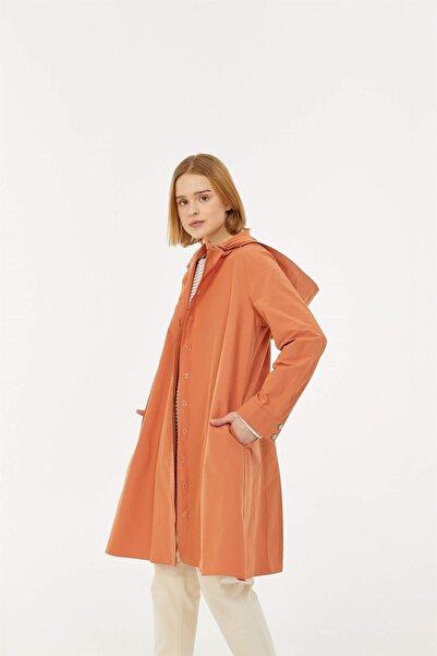 Fahhar Kadın Turuncu Oval Trençkot