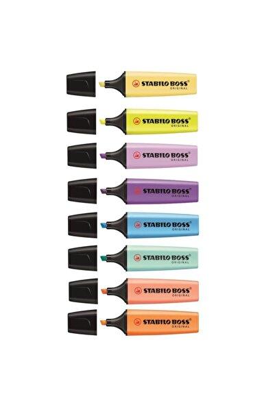Stabilo Boss 4 Pastel 4 Fosforlu Işaretleme Kalemi 8 Renk Set