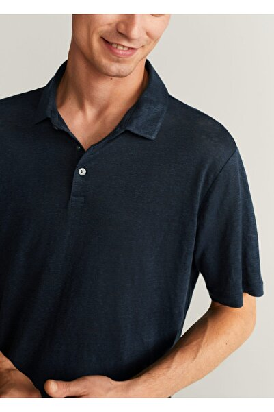 MANGO Man Keten Polo Tişört
