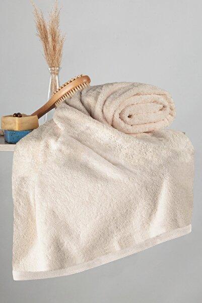 Nazik Home 500gr Mısır Pamuğu Havlu 90 X 150 Banyo Vücut Havlusu Bej Renk