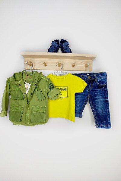 Miny Miny Kids Erkek Bebek Yeşil Kapüşonlu Ceketli Takım