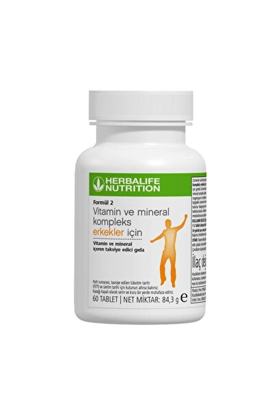 Herbalife Formül 2 Vitamin Ve Mineral Kompleks Erkekler Için 60 Tablet