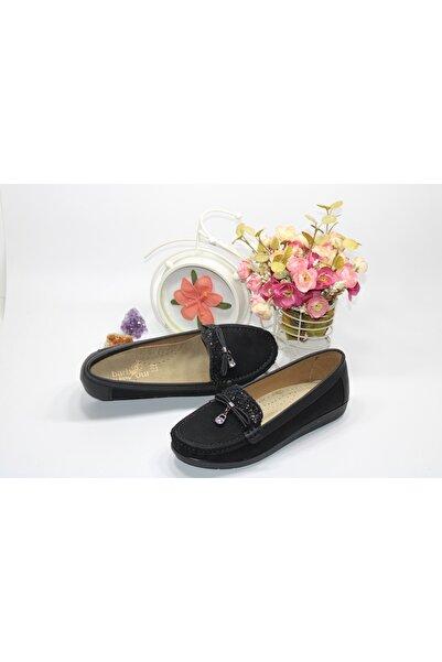 Barbour Kadın Siyah Bağsız Yüzü Taşlı Günlük Ayakkabı