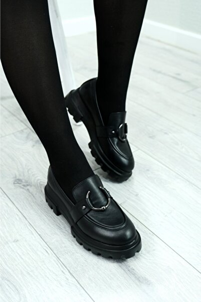 Hayati Arman Kadın Hakiki Deri Tasarım Loafer Ayakkabı