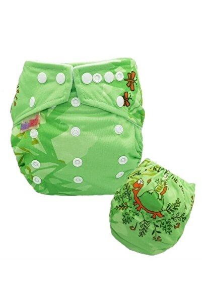 BabyNEO Yeşil Tek Beden Cepli Fleece Yıkanabilir Bebek Bezi -gövde+ped