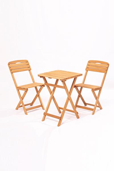 Balkon - Bahçe - Mutfak 3'lü Bistro Set 2 Sandalye 1 Masa
