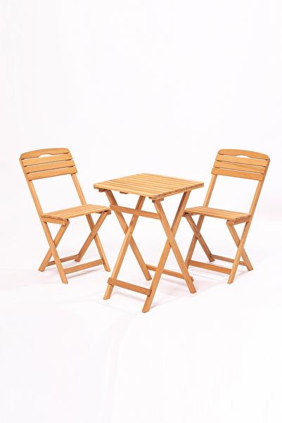 Meya Dekor Balkon - Bahçe - Mutfak 3'lü Bistro Set 2 Sandalye 1 Masa