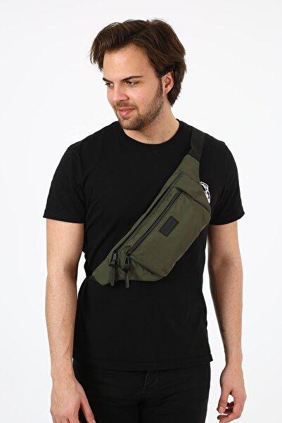 Bagslab Unisex Haki Cepli Bel Çantası/bodybag(YAN ASILARAK KULLANIMA UYGUN)