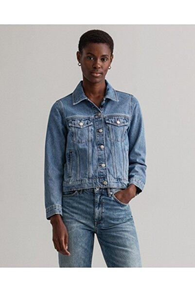 Gant Kadın Mavi Denim Ceket