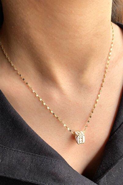 Ariş Pırlanta 14 Ayar Italyan Zincir Altın Kalpli Kolye