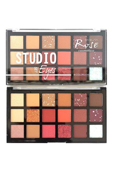 AİLY COSMETİCS Rose 18'li Studıo Model Göz Far Paleti & 18 Colour Eyeshadow